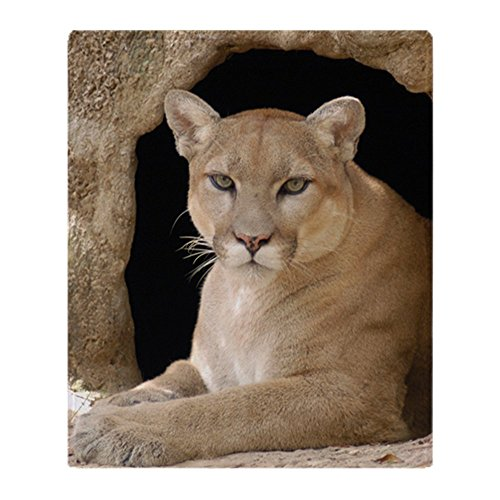 - CafePress Cougar 014 Soft Fleece Throw Blanket, 50