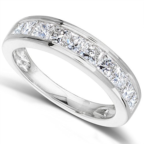 Diamond Band 1 carat (ctw) in 14kt White Gold, Size 8, White Gold by Kobelli (Image #1)