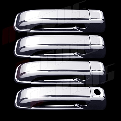 A-PADS 4 Chrome Door Handle Covers For Jeep COMMANDER 2005-2011 & GRAND CHEROKEE 05-2010 - WITHOUT Passenger Keyhole