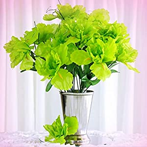 New 60 Lime Green Silk IRIS Wholesale Decorating Flowers Bouquets Centerpieces Sale - Perfect for Any Wedding, Special Occasion or Home Office D?cor 14