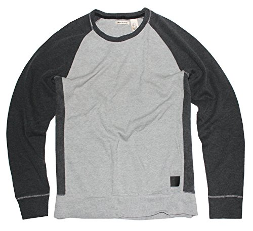 Dkny Men Sweaters Jeans - DKNY Jeans Men's Sweater Color Block Pullover, Grey, Large