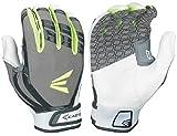 Easton Hyperskin - HF Turboslot Fastpitch Batting Gloves, Black/Grey, Large