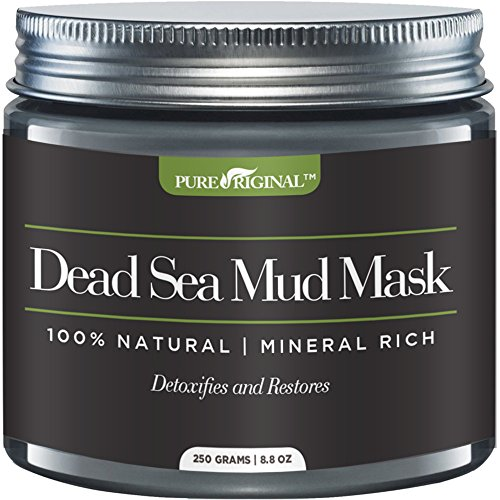Pure Originals Dead Sea Mud Mask for Face, Body & Hair 8.8 oz 100% Natural and Organic Deep Skin (Dead Sea Body Mud)