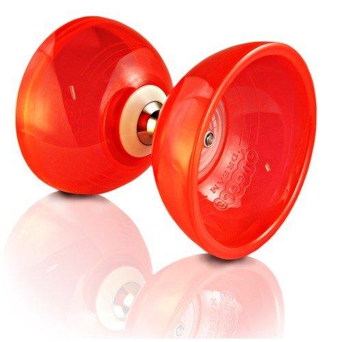 Rouge 6 couleurs Diabolo Set Cyclone QUARTZ II Flames N Games Sac de Transport. - PRO Triple Roulement Diabolo Diablo Baguettes en Aluminum et Ficelle
