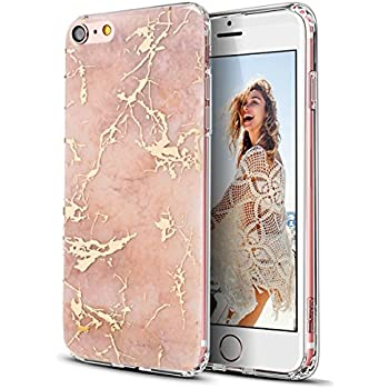 Amazon Com White And Rose Gold Chrome Marble Phone Case