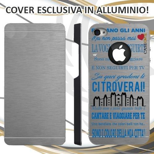 CUSTODIA COVER CASE CORO ULTRAS INTER PER IPHONE 4 ALLUMINIO TRASPARENTE