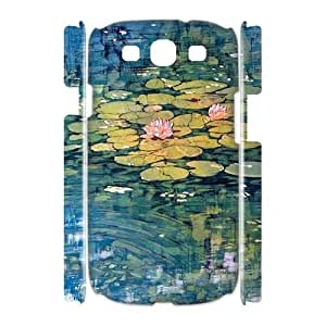 Fggcc Water Lilies Hard Case for 3D Samsung Galaxy S3 I9300,Water Lilies S3 Cover Case (pattern 1)