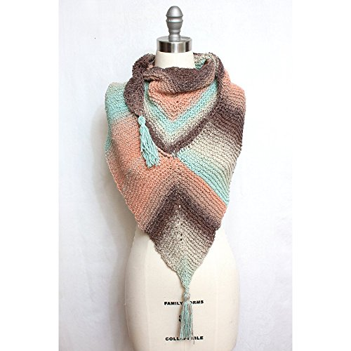 Triangle Shawl in Silk and Cotton by Huzzzah! Unique Handmade Wearables