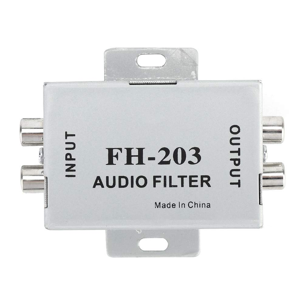 Stereofilter, FH-203 Autoradio-Audiofilter-Isolierung Kfz-Verst/ärker-Rauschunterdr/ücker