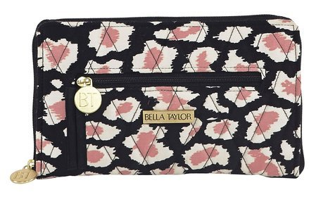 Amira Quilted Cotton Signature Zip Wallet