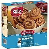 Katz Gluten Free Cinnamon Rugelech, 7 Ounce, Certified Gluten Free - Kosher - Dairy, Nut & Soy free - (Pack of 1)