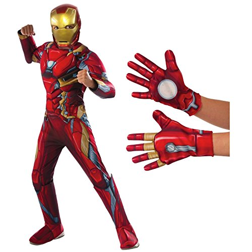 [Captain America: Civil War Iron Man Deluxe Childs Costume Kit Medium] (Comicbook Costumes)
