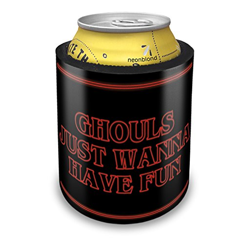 NEONBLOND Ghouls Just Wanna Have Fun Halloween Strange and Spooky Slap Can Cooler Insulator Sleeve]()