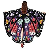 Women Christmas Butterfly Wings-Vovomay Shawl Scarves Poncho Costume Accessory (Purple)