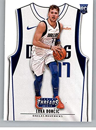 designer fashion b9efc 01d17 Amazon.com: 2018-19 Threads Basketball Rookie Card #101 Luka ...