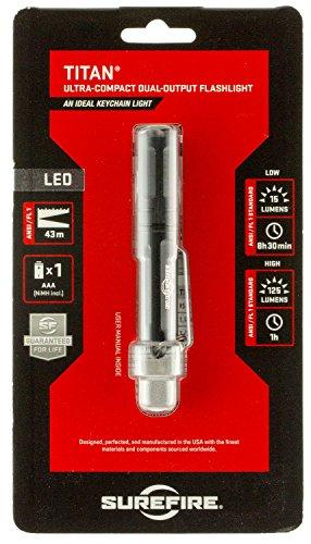 (SureFire Titan Ultra-Compact Dual-Output LED Keychain Light, Black)
