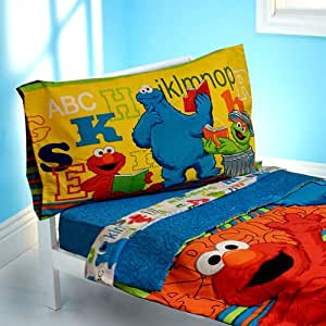 Sesame Street Toddler Bedding Elmo ABC 123 Comforter Sheets