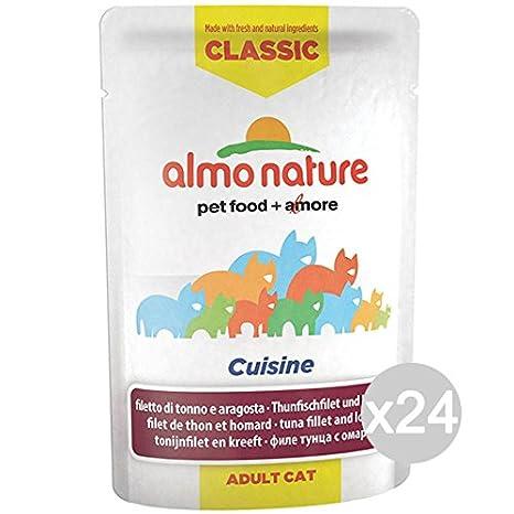 Almo nature Juego 24 Gato 5833 Sobres 55 Classic Tonno aragos Comida para Gatos: Amazon.es: Productos para mascotas
