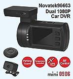 Jusky Mini 0906 Dual Channel Dash Camera Full HD 1920X1080P SONY IMX291 IMX323 with GPS Parking Guard G-sensor