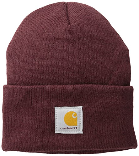 Carhartt Men's Acrylic Watch Hat A18, Port, One Size ()