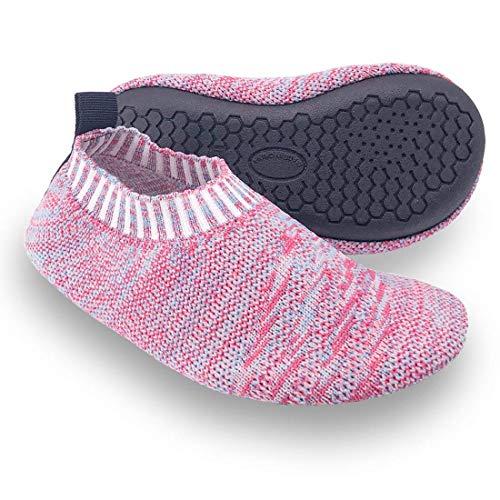Kids Toddler Slipper Socks with Rubber Sole Non-Slip Knit Lightweight