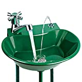 2-in-1 Outdoor Water Fountain, Green