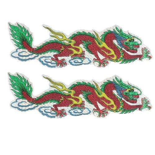 2 pices colores de Dragon Blink Decal Dcoration autocollant de voiture 11,8 x 3,5