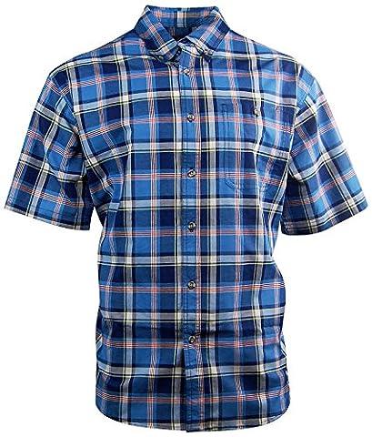 Men's Canyon Guide Plaid Button Down Casual Shirt (X-Large, Royal) - Canyon Guide