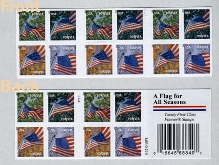 USPS Forever Stamps A Flag for All Seasons Booklet of 20
