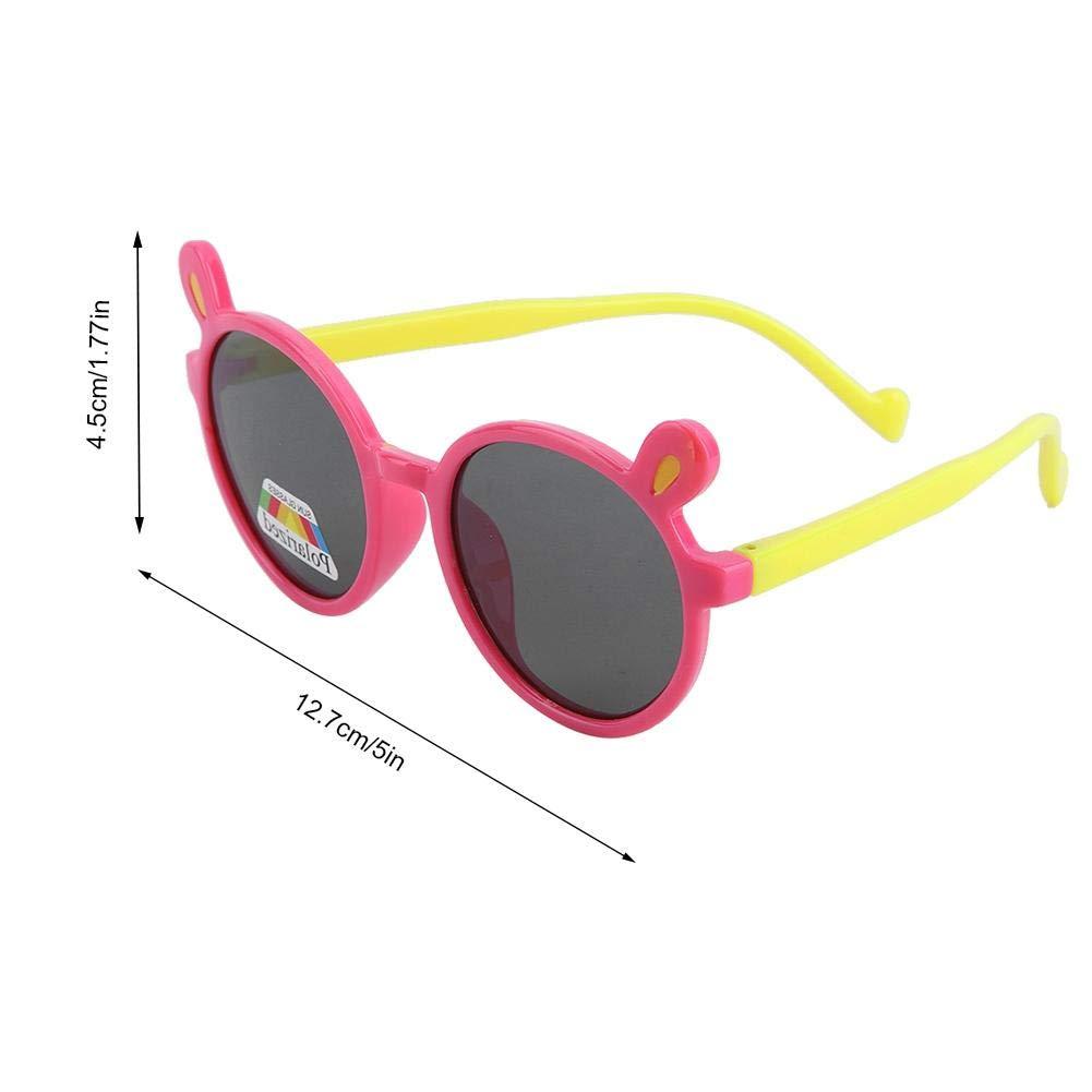 Toddler Cartoon Polarized Sunglasses Cute Fashionable Sunglasses for Baby Boys Girls Children Silica Eyewear Pink