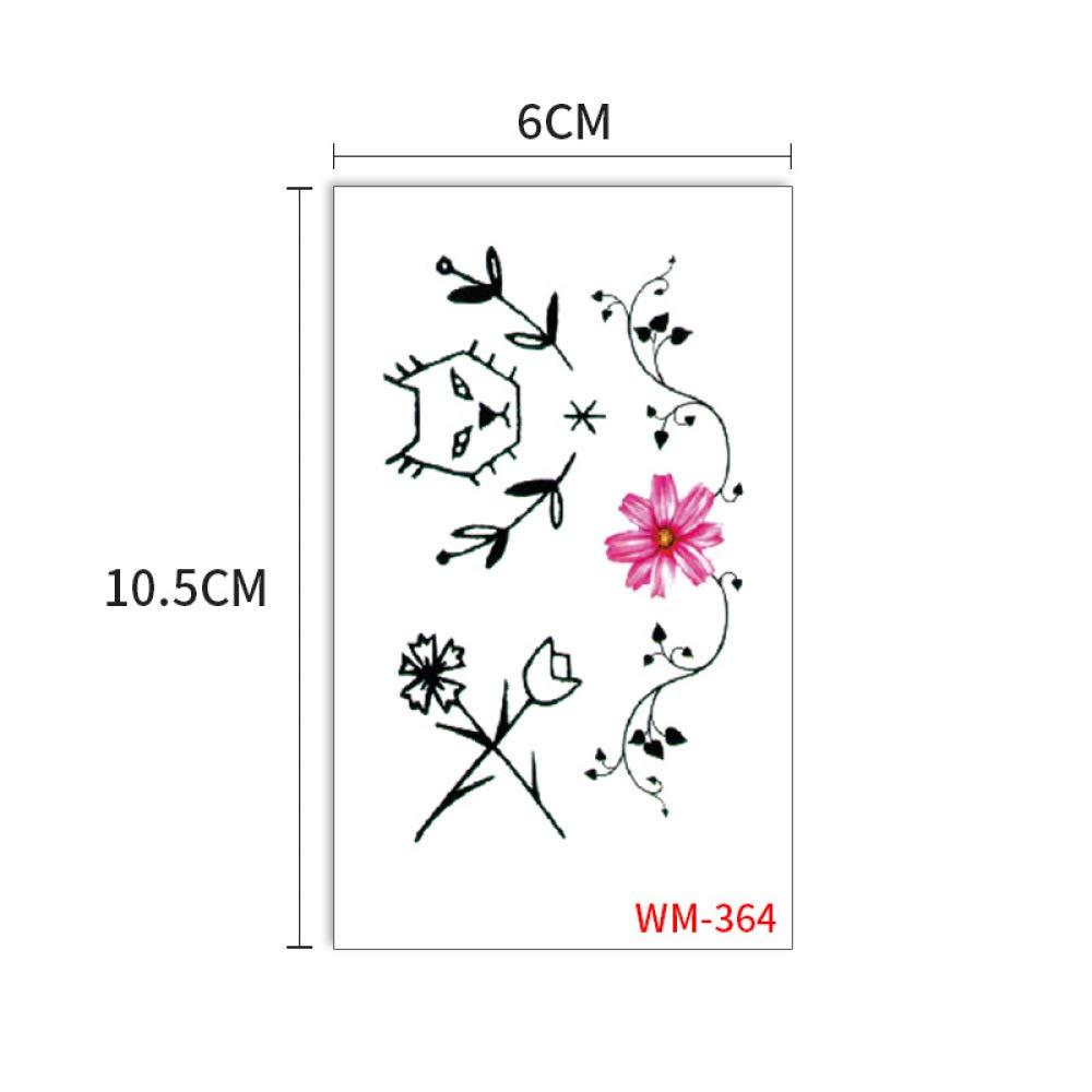 Tatuaje pintado cuerpo pegatina simulación plantas impermeables ...