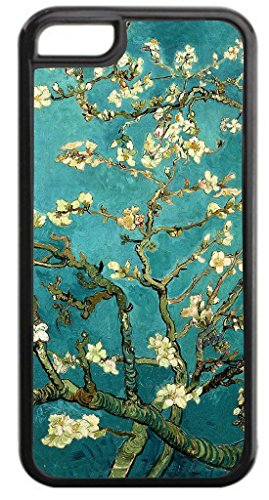 Artist Vincent Van Gogh's Almond Blossoms Painting-Print Design Black Plastic Apple iPhone 7 Plus (7+) Case Made in the U.S.A.