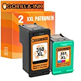 Gorilla Ink Color Set 2 printer cartridges compatible with HP-350 & HP-351XL | 1x Black 30ml content & 1x Color 22ml content