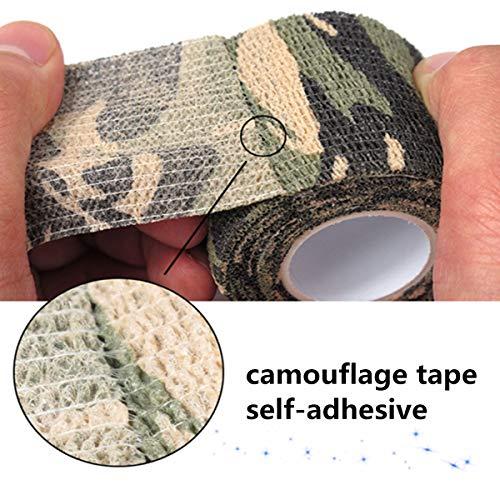 Tornado Camouflage Tape Self-Adhesive Camo Wrap Tape Cling Scope Wrap Military Camo Multifunction for Gun Rifle Shotgun Camping Hunting by Tornado (Image #3)