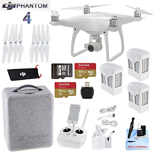 DJI-Phantom-4-Extended-Flight-Bundle-Includes-3-Intellegent-In-Flight-Battery-2-64GB-Micro-SD-Memory-Card