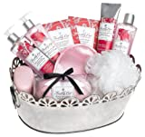 Upper Canada Soap & Candle Freshly Cut Poppy And Pummelo Platinum Elegance Gift Basket