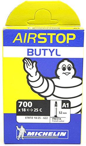 Michelin A1 Airstop Road Presta Valve Inner Tube, 700 x 18-25cm, Black Butyl Inner Tube