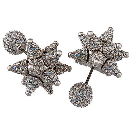 (Swarovski Atelier Kalix 5229371 Rhodium Plated Pave Cluster Star Stud Earrings)