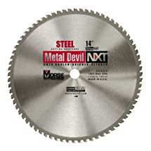 MK Morse CSM1466NSC Metal Devil NXT Circular Saw Blade 14-Inch Diameter, 66 Teeth, 1-Inch Arbor, for Steel Cutting