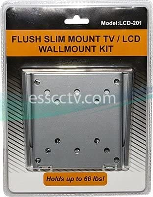 LCD LED Monitor Wall Mount, Simple No Tilt Style, 66 lbs Max Load