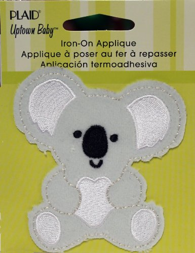 (Uptown Baby Plush Fabric Iron on Appliques, 70709 Koala)