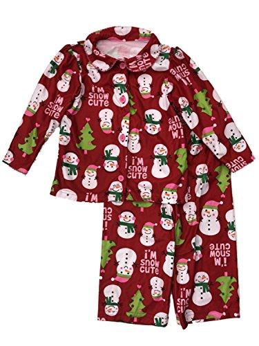 Snowman Flannel Pajamas - Carters Infant & Toddler Girls Holiday Sleepwear Set Flannel Snowman Pajamas 24m