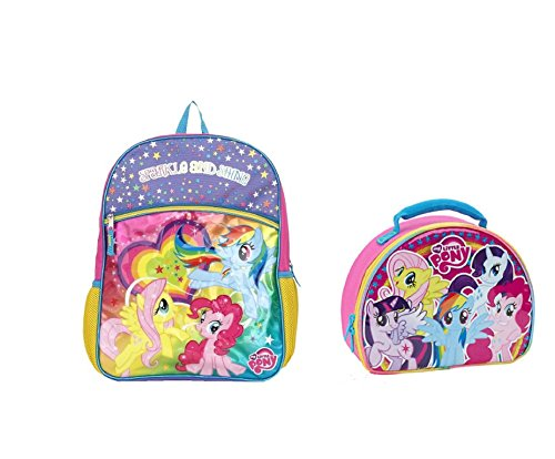 """My Little Pony Sparkle and Shine Backpack & Lunch Bag ~ 16"""""""