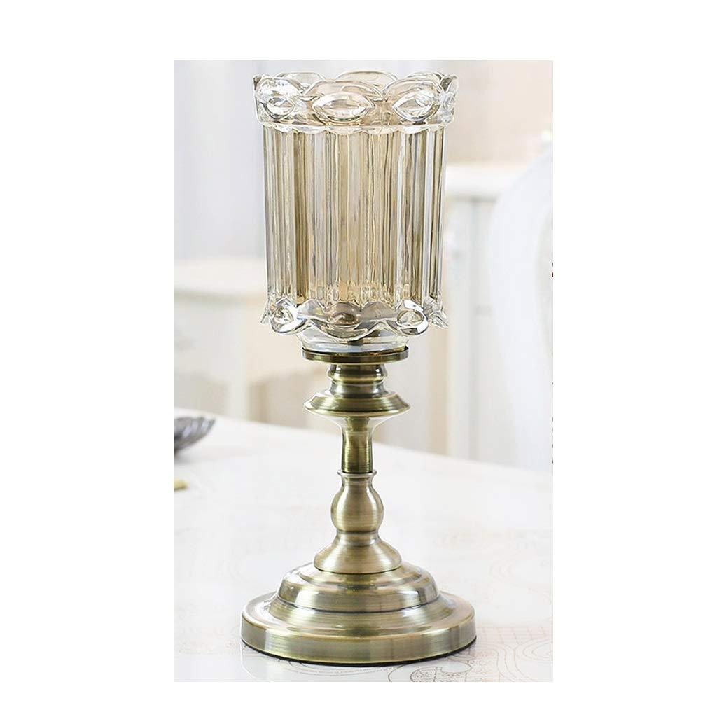 HBJP ヨーロッパのガラス花瓶の装飾リビングルームの装飾装飾家の装飾 花瓶 (サイズ さいず : High51CM) B07RWPWKVY  High51CM