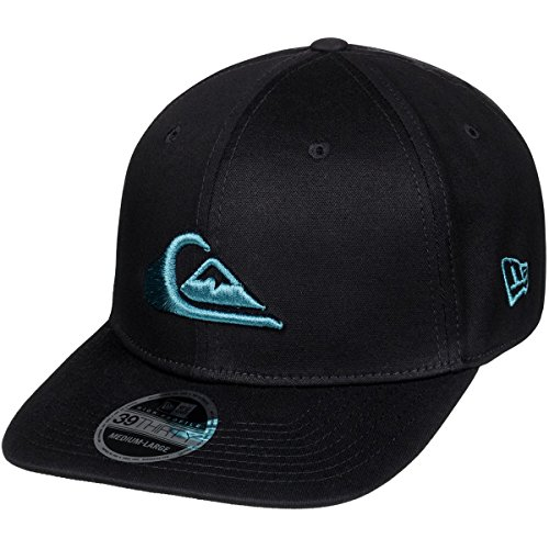 Quiksilver Men's Mountain and Wave Black Hat, Malibu Blue, (Quiksilver Mens Mountain Wave)