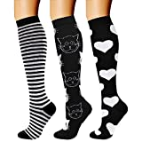 Toys : CHARMKING Compression Socks (3 Pairs) 15-20 mmHg is Best Athletic & Medical for Men & Women, Running, Flight, Travel, Nurses, Edema - Boost Performance, Blood Circulation & Recovery (S/M, Assorted 30)
