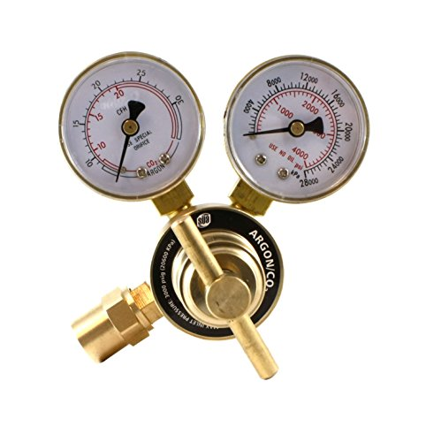 Industrial Argon Regulator/Flowmeter Gauges for MIG and TIG Welders - - Connections Barb Outlet Hose