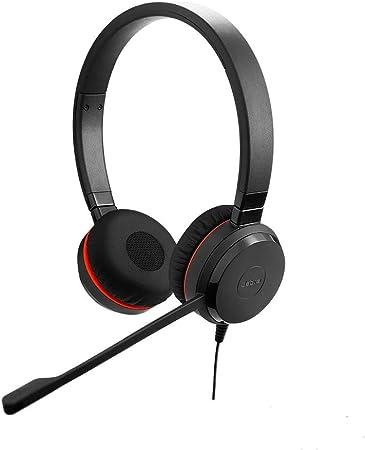 Jabra Evolve 20 Se Stereo Headset Microsoft Teams Zertifizierte Kopfhörer Für Voip Softphone Mit Passivem Noise Cancelling Usb A Kabel Mit Anrufsteuerung Schwarz Elektronik