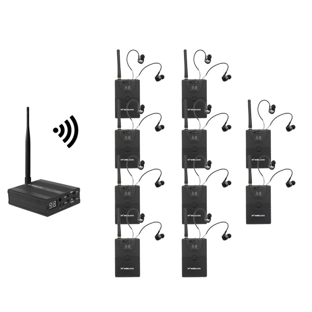 TP-WIRELESS Wireless 2.4GHz In Ear Monitor Transmitter Receiver Audio Ear Return