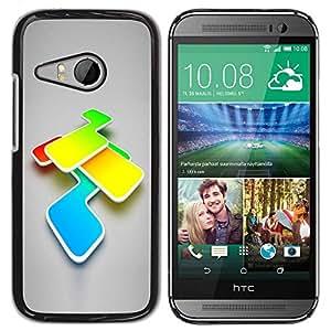 Carcasa Funda Prima Delgada SLIM Casa Case Bandera Cover Shell para HTC ONE MINI 2 / M8 MINI / Business Style Abstract Colors